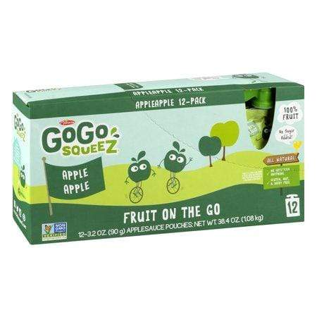 Gogo Squeez Fruit Pouches, Apple Apple Squeeze Pouches, 12 Ct