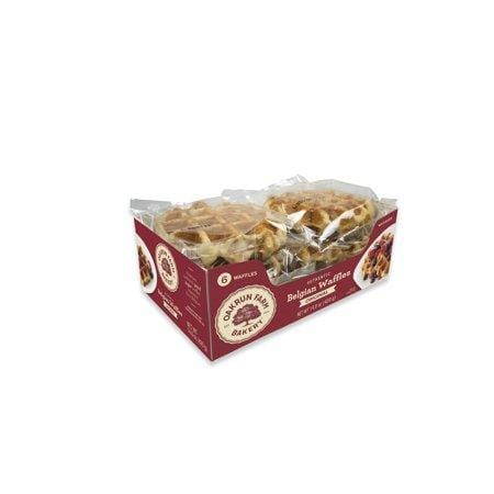 Oakrun Farms Belgian Waffles For Breakfast And Snacking, 6 Cnt 2.4-Oz