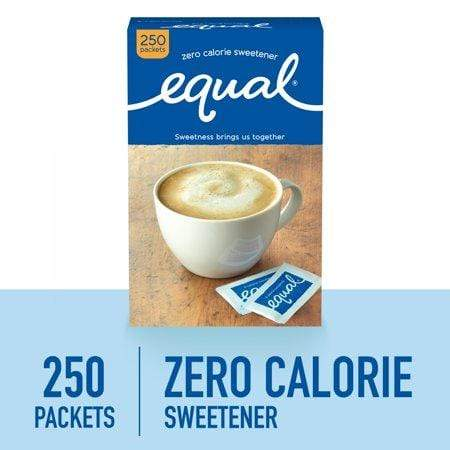 (250Pkets) Equal Zero Calorie Sweetenerpkets, Sugar Substitute