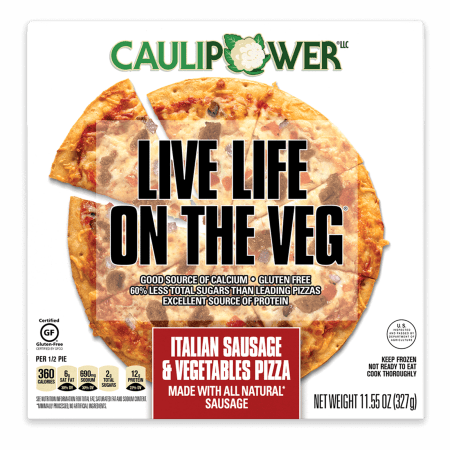 CAULIPOWER Italian Sausage & Vegetables Cauliflower Crust Pizza, 11.55 oz (Frozen)