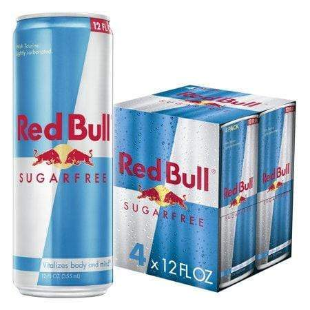 Red Bull Sugar Free Energy Drink, 12-Oz, 4 pack