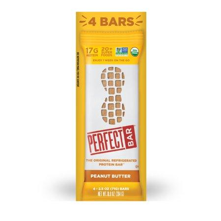 Perfect Bar, Peanut Butter, 17G Protein, 2.5-Oz, 4 Ct
