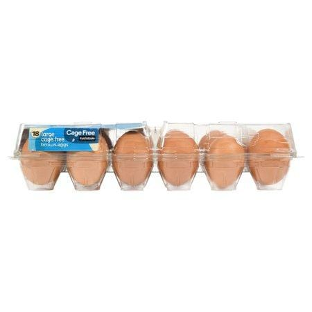 Marketside Large Cage Free Brown Eggs, 18 count, 36 oz