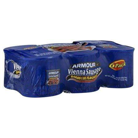 (6 Cans) Armour Barbecue Flavored Vienna Sausage 4.6-Oz
