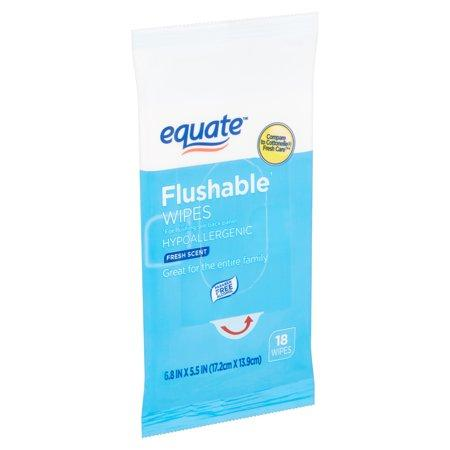 Equate Fresh Scent Flushable Wipes, 18 Cnt