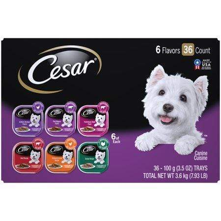 Cesar Soft Wet Dog Food Classic Loaf In Sauce Grilled Chicken Varietypk 3.5-Oz. Easy Peel Trays