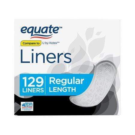 Equate Liners, Unscented, Regular, 129 Cnt
