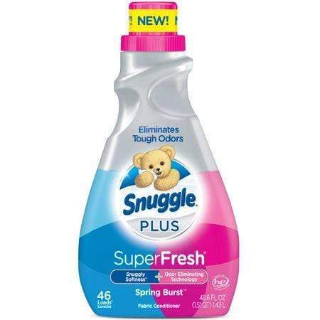 Snuggle Plus Super Fresh Liquid Fabric Softener, Spring Burst, 48.6 Fluid Ounces, 46 Loads