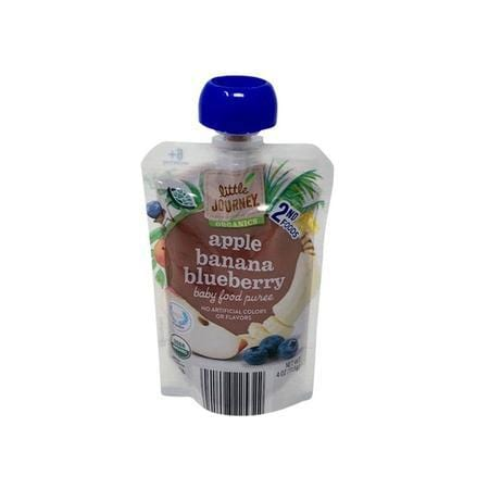 Little Journey Apple Blueberry Banana Baby Food Puree