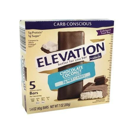 Elevation by Millville Chocolate Coconut Endulgent Bars