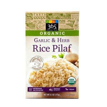 365 Organic Garlic And Herb Rice Pilaf