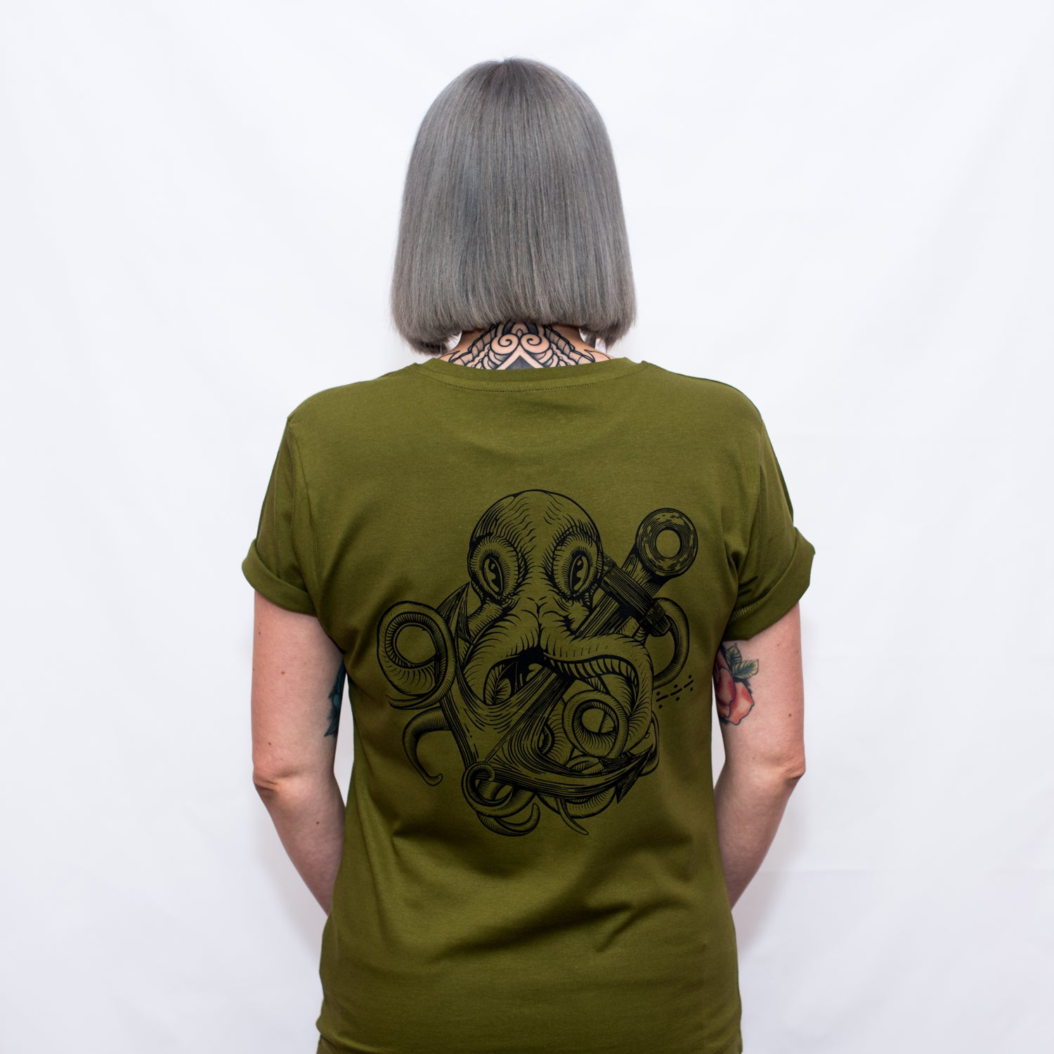 Military Kraken tattoo T Shirt - Save Our Souls