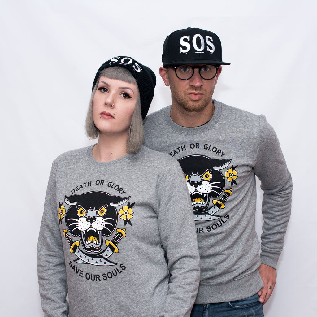 Death Or Glory Puma Tattoo Sweatshirt - Save our Souls Clothing