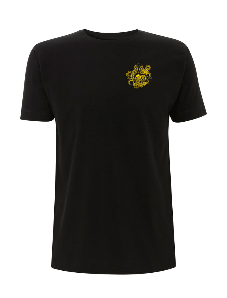 Gold Kraken Tattoo T Shirt - Save Our Souls Clothing