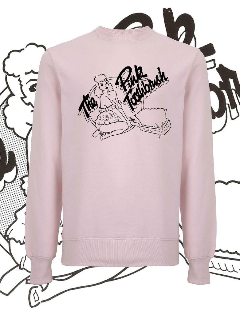 The Pink Toothbrush Sweatshirt - Save Our Souls Clothing