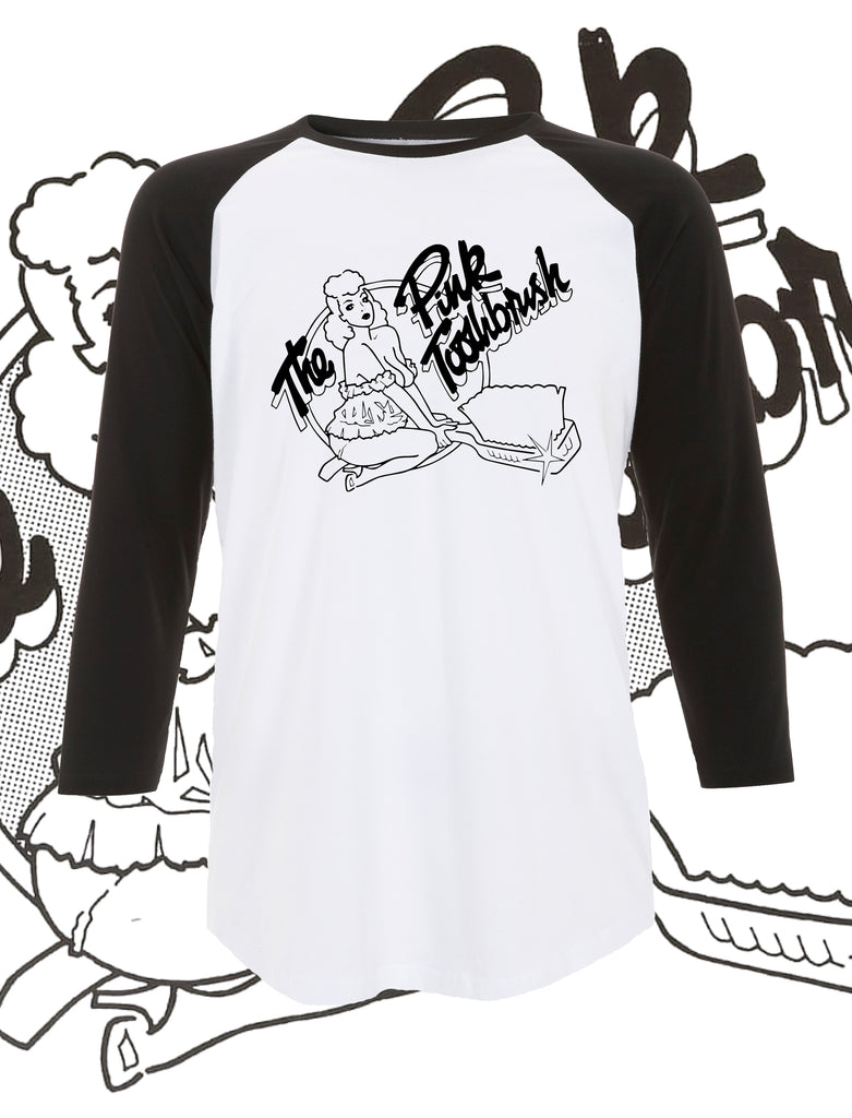 The Pink Toothbrush Raglan T-Shirt - Save Our Souls Clothing