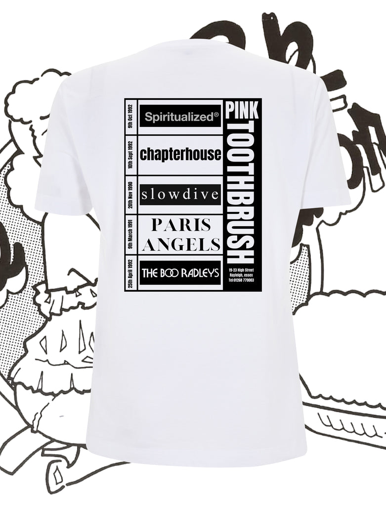 The Pink Toothbrush Shoegaze Flyer T-Shirt