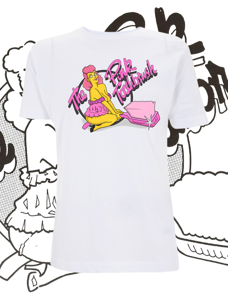 The Pink Toothbrush Cartoon T-Shirt