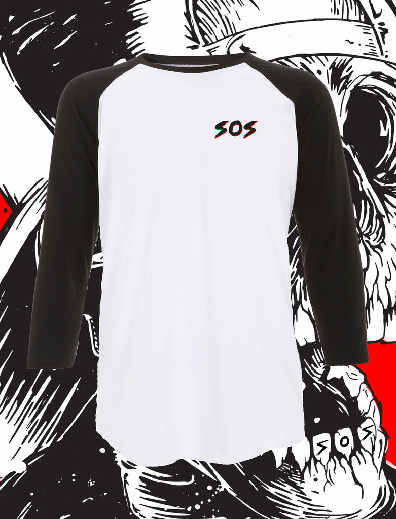 Skater Boy Long Sleeve Raglan T-Shirt - Save Our Souls Clothing