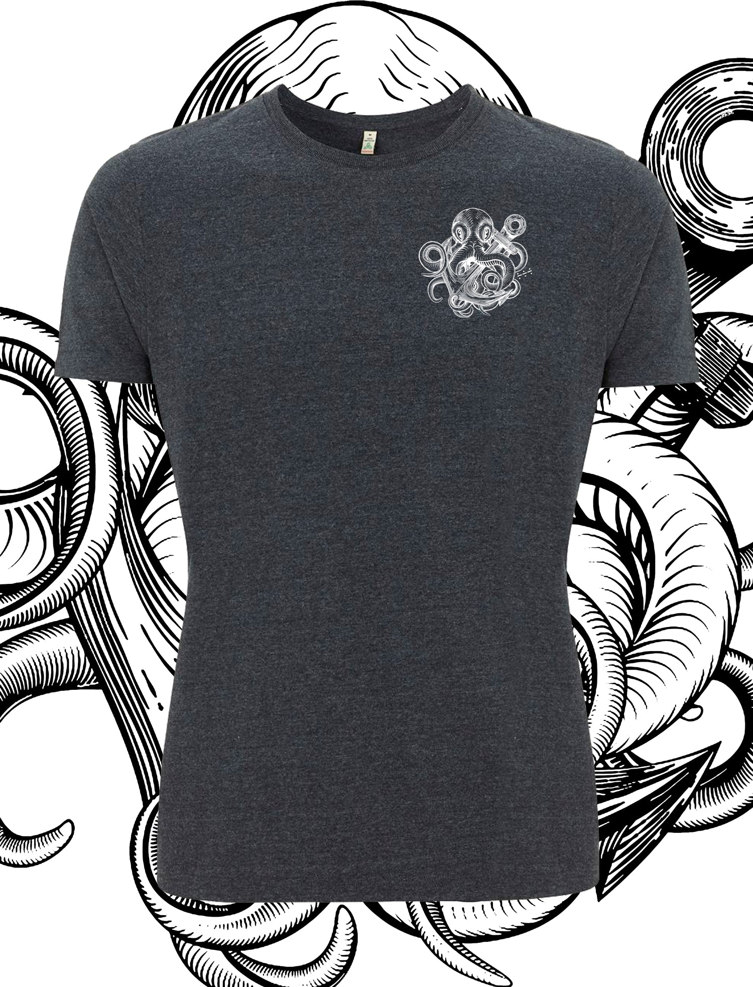 White Kraken Recycled T-Shirt - Save Our Souls Clothing