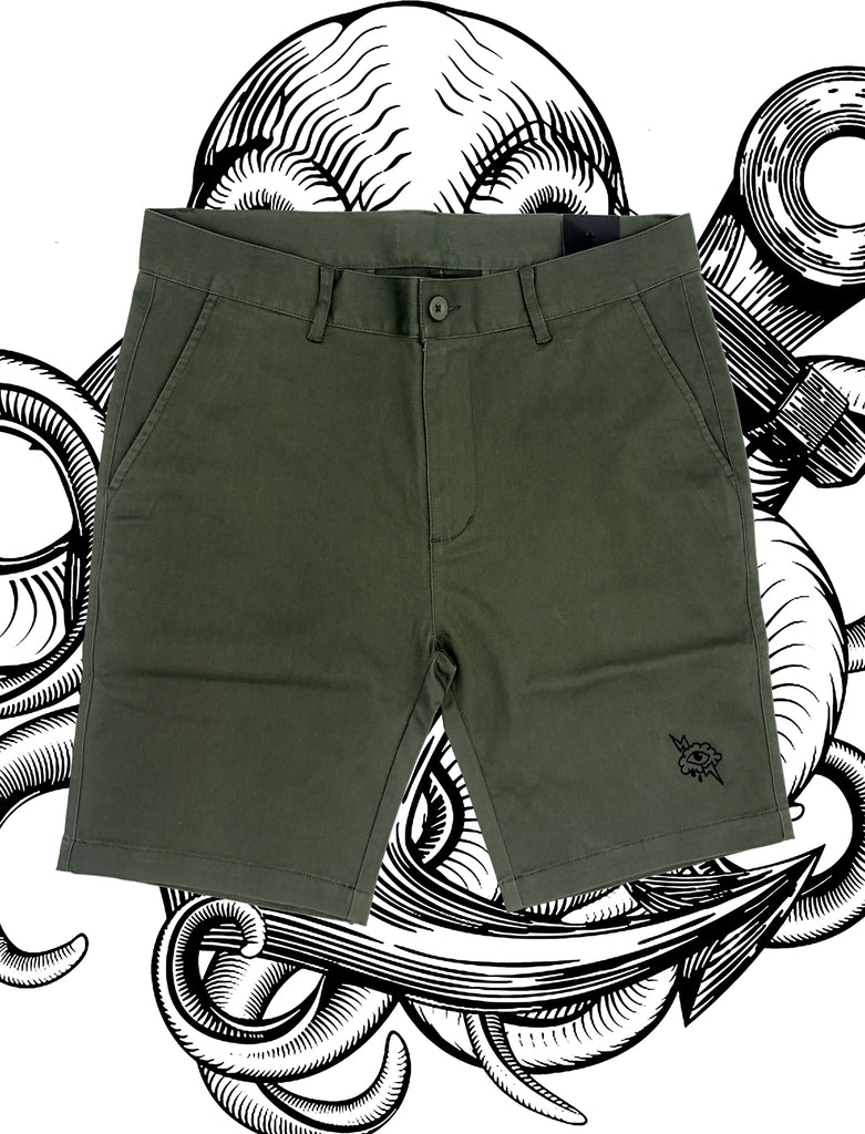 Chino Shorts - Army - Save Our Souls Clothing