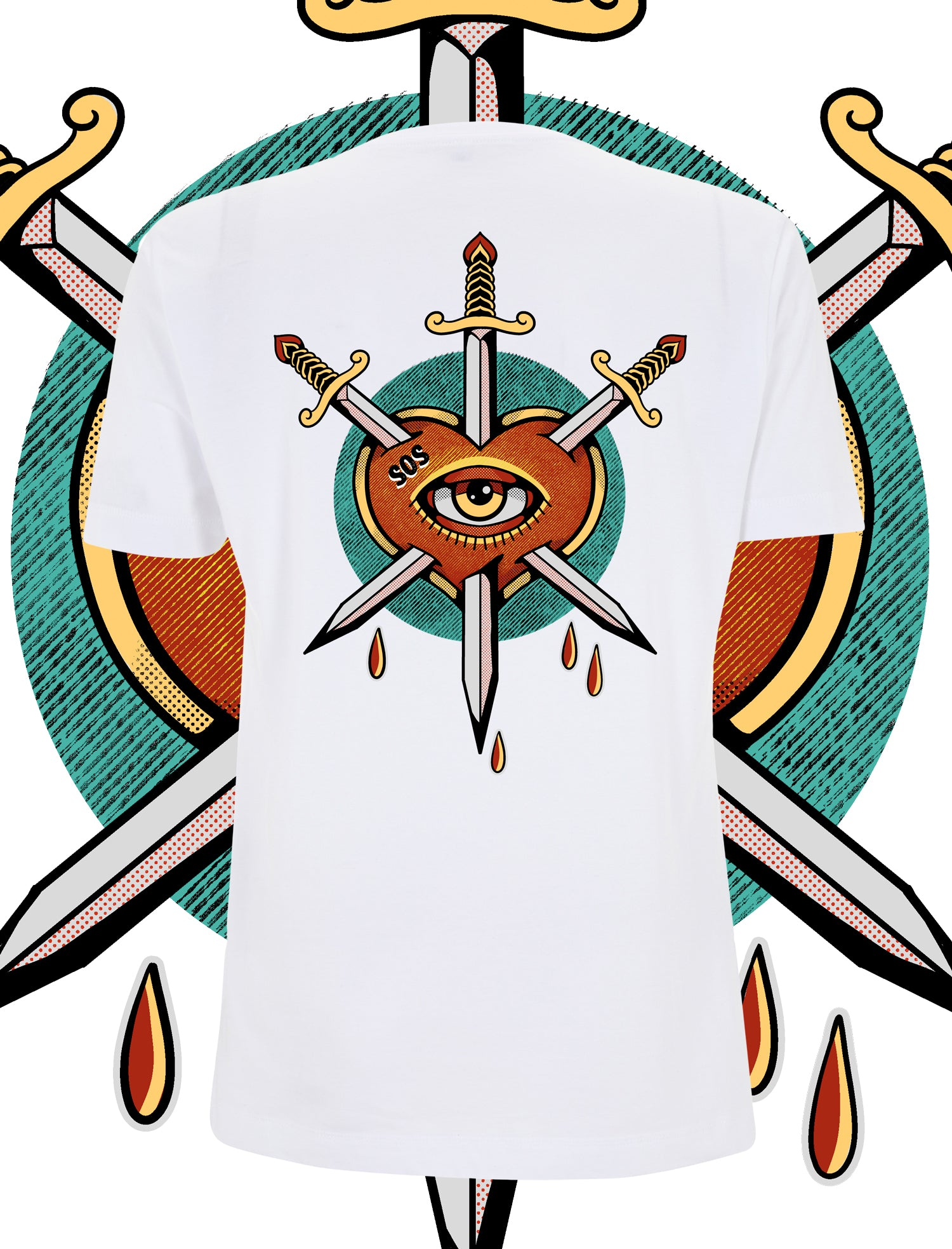 Eye Of The Beholder tattoo T-Shirt - save our souls clothing