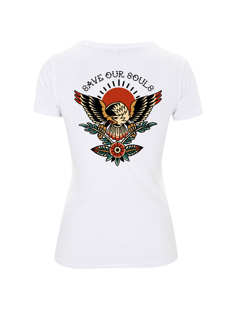 Traditional Eagle Women's Fitted T-Shirt - Save Our Souls Clothing