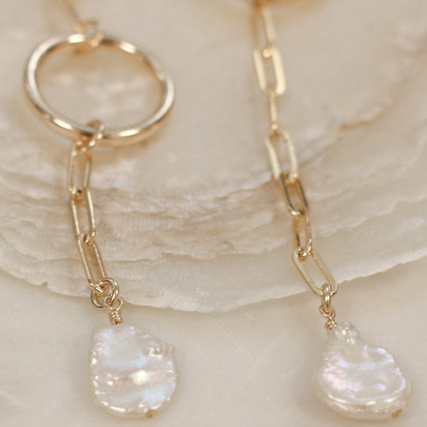 Queen Keshi Pearl Earrings