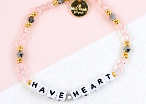 Have Heart Bracelet - White Letters