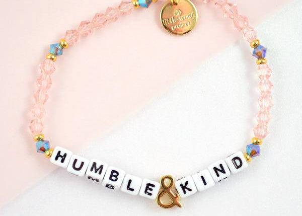 Humble & Kind Bracelet - White Letters