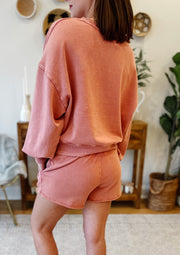 The Lia Washed Top (dusty rose)