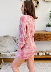 Sleep Over Tie Dye Sweatshirt
