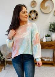 Sherbert Balloon Sleeve Top