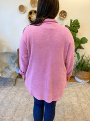 Oversized Lavender Shirt Top