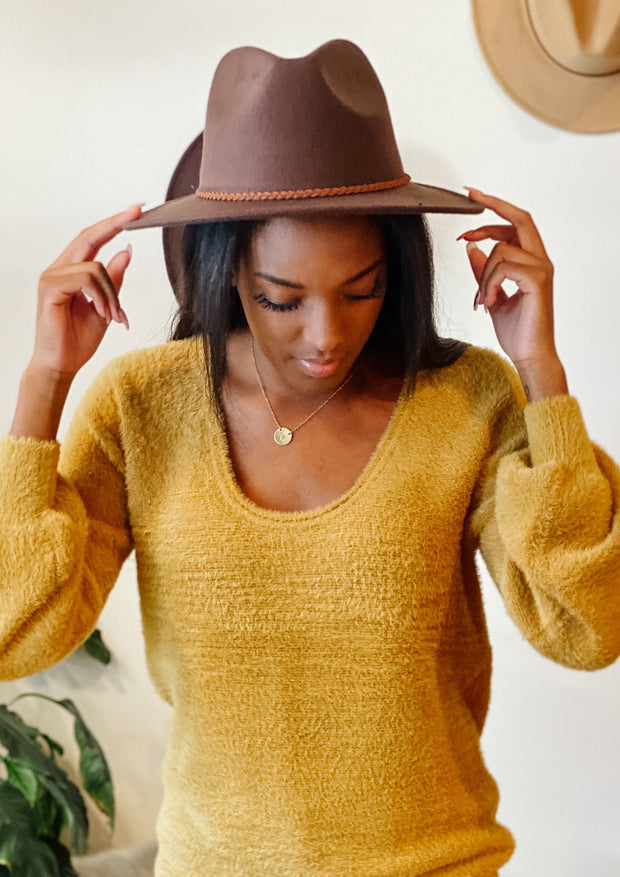 The Belle Unisex Hat (chocolate)
