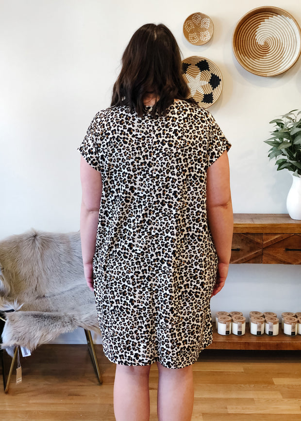 The Dolman Mini Dress (leopard)