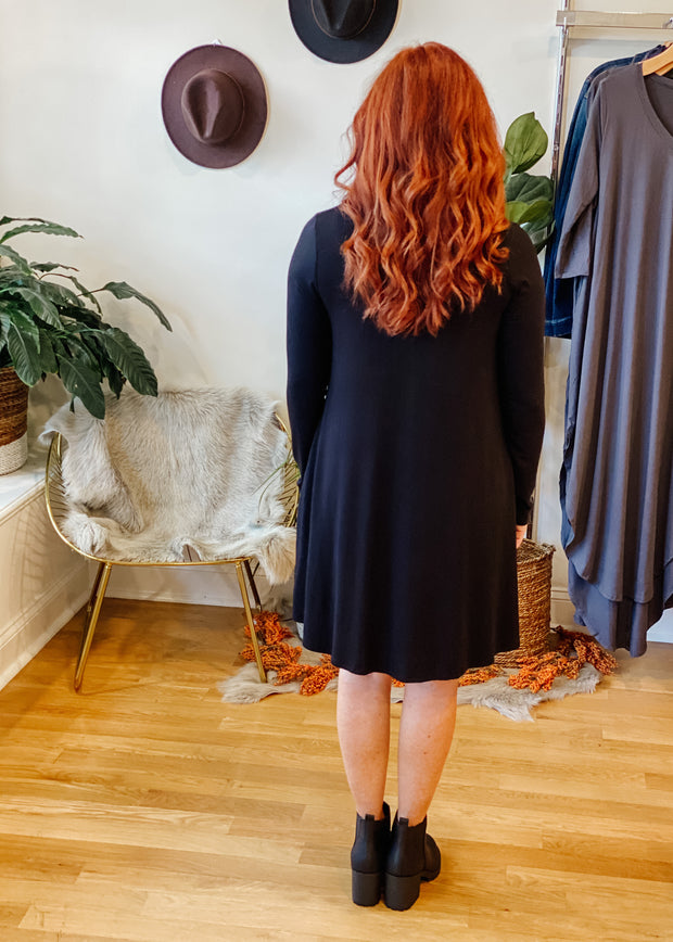 The Austin Pocket Dress (black)
