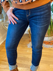 The Santana Dark Wash Skinnies