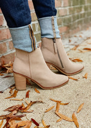 The Patton Bootie (taupe)