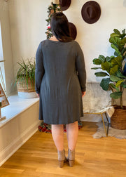 The Austin Pocket Dress (charcoal)