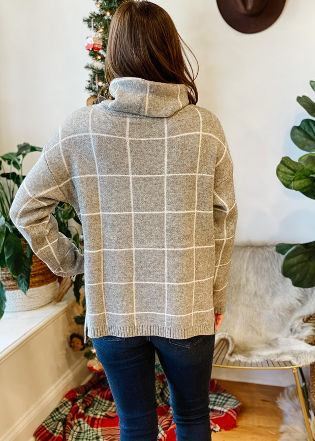 The Cora Mock Neck Sweater