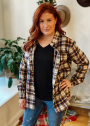 The Logan Plaid Top