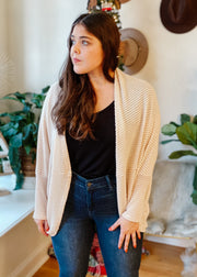 The Cora Cocoon Cardigan (Oatmeal)