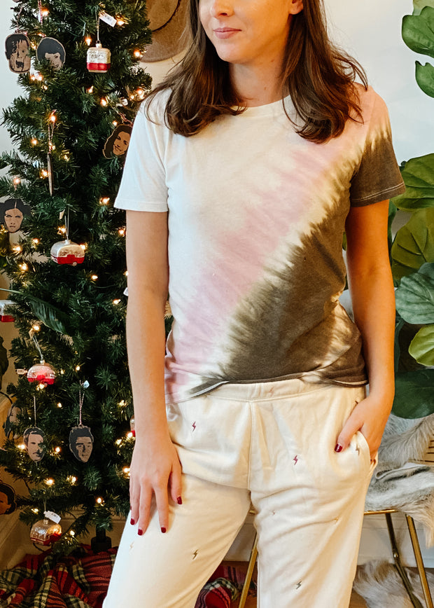 The Easy Stripe Tie-dye Tee