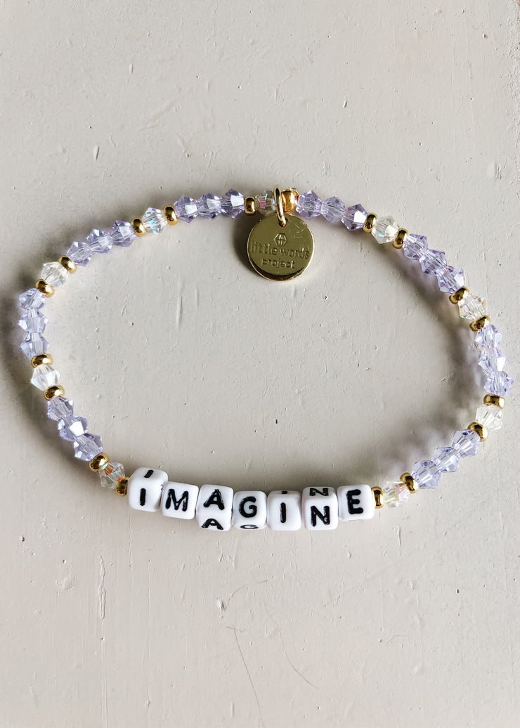 Imagine Bracelet - White Letters