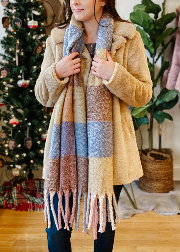 Oversized Colorblock Scarf