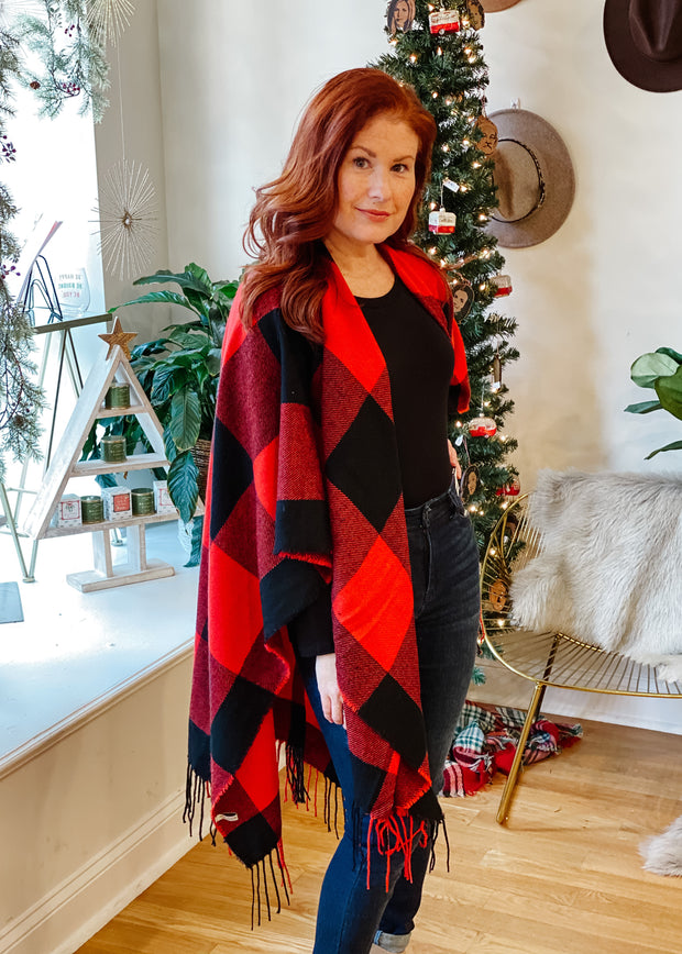 Buffalo Plaid Ruana (one size)