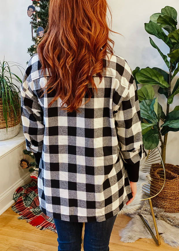 Buffalo Plaid Oversized Shirt