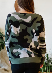 The Camo Sporty Sweater