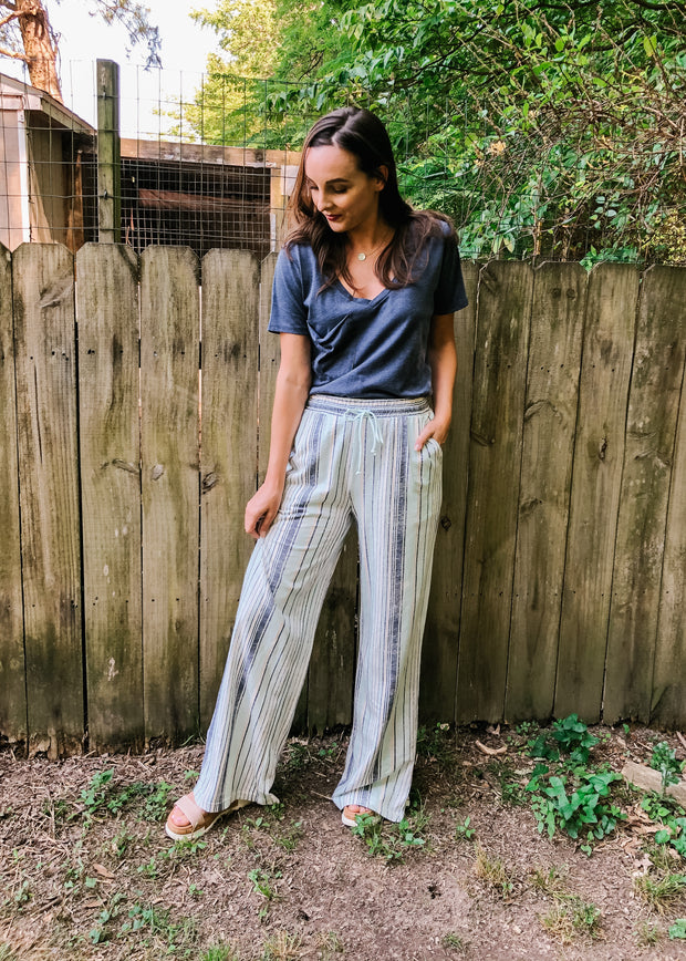 The Hana Striped Pant